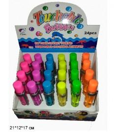Мыльные пузыри 801-A1 ручка, нелопающиеся, 6цв.24шт.в кор.21*12*17 /24/576/