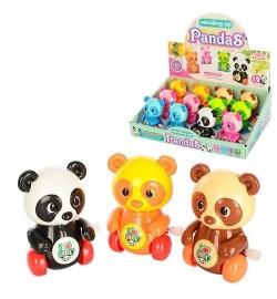 Заводная игрушка 6626 (480шт) панда8см,ездит,двиг.голов,лапками,12шт(6цветов)в дисплее,28-20-9см