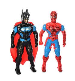 Супергерой 525 (150шт) 20см, свет, 2вида(BT,СП), на бат(таб), в кульке, 21-24-3см