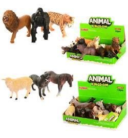 Тварини 16088AB (576шт) від 9см, (дикі), 12шт (2віда) в дисплеї, 23-14-7см