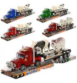Трейлер 899-13-14-15 (72шт) инер-й, 31см, животные, 3вида, в слюде,33-7,5-9,5см