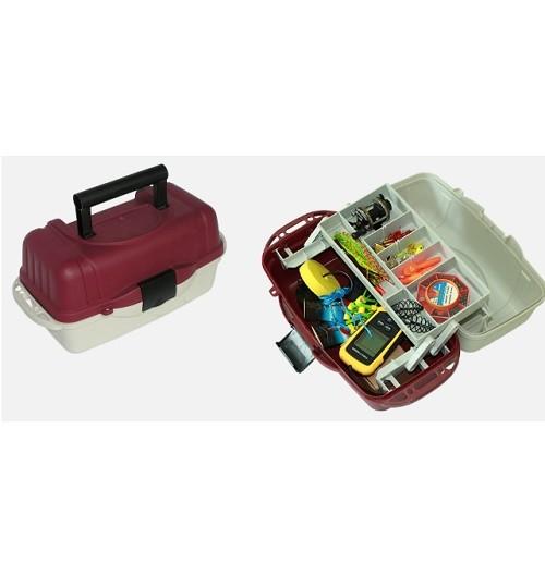 Ящик для снастей 1яр. со съемными перегородками 39.5*19.5*19.5см AQT-2701 (6шт)