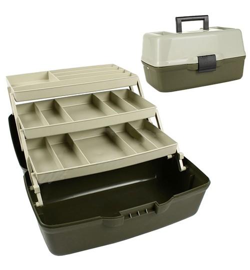 Ящик для снастей 3яр. с непрозрачной крышкой 36*21.5*19.5см AQT-1703 (8шт)