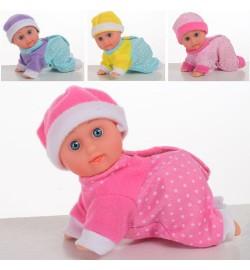 Пупс-лялька 3360-10 (108шт) 11см, повзає, на бат-ке (табл), 12шт (4віда) в дисплеї, 35,5-24,5-10см