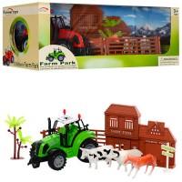 Ферма FA17-26-27 (36шт) трактор 13см-инер-й, животные, 2 вида, в кор-ке,32-13,5-15см