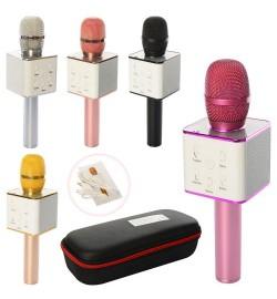 Мікрофон Q7 (10шт) аккум, 25см, USB, Bluetooth ,, в футлярі, 28-11,5-7см