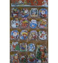 Новогодние открытки 19 видов, цена за 8 шт./уп., 7*8