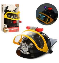 Набір пожежника F004A (36шт) каска, разм.16-19см, звук, світло, на бат (таб), в кор-ке, 34-20,5-14см