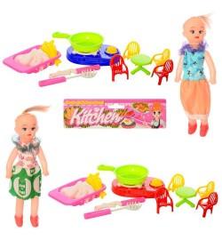 Кукла 5508-1 (144шт) 20см, посуда, мебель, корзина, в кульке, 22-27-4,5см