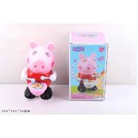 Муз. животное 3025-1 (60шт/2) свинка Пеппа, свет, звук, в коробке 23*13*13см