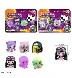 Герої Monster High Minis QA8001 (144шт / 2) в компл. 3 фігурки, 2 види, на Планш. 24,5 * 18см