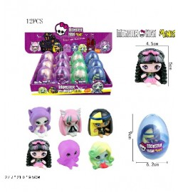 Герої яйце MonsterHigh МонстрХай QA8003 (36шт / 2) 12шт. в дисп боксі, ціна за дисплей бокс 27,7 * 21 * 9,5 см