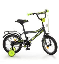 Велосипед детский PROF1 16д. Y16108 (1шт) Top Grade,графит-салат.(мат),звонок,доп.колеса