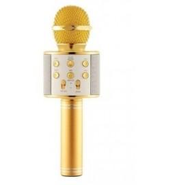 Микрофон  WS-858 в коробке. ЗОЛОТО