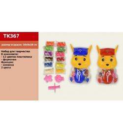 Набор для творчества TK367 (60шт/4) пластилин, 2 вета, в кор.10*10*20см