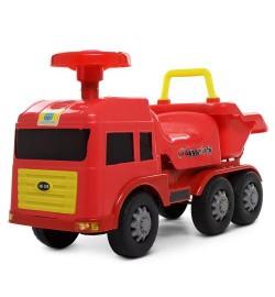 Каталка-толокар 248 (1шт) пожарная машина/самосвал,колеса6шт,муз,свет,д66-ш26-в40,5см,бат