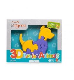 Іграшка розвиваюча: 3D пазли   Тваринки (1шт.) - 8 ел. пазлы