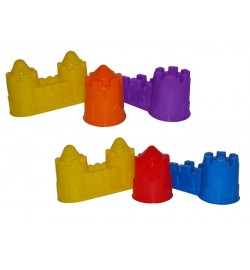 Формочки (замок мост + замок башня + замок стена с двумя башнями) пасочки