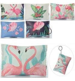 Кошелек X14978-1 (480шт) фламинго, брелок,застежка-молния, 6видов, 13-9-0,5см,
