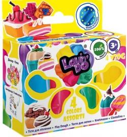 Набор  тіста для ліплення ТМ Lovin'Do Асорті 4 кольори тесто в коробке 30шт