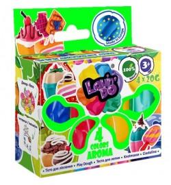 Набір тіста для ліплення ТМ Lovin'Do Асортi 4 кольори Арома тесто в коробке 30шт