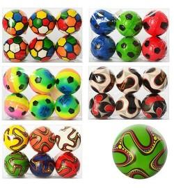 Мяч детский фомовый MS 0262 (120шт) 3 дюйма, 6 видов, 12шт в кульке,