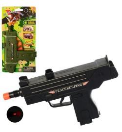 Пистолет 33660 (216шт) 19см, звук, свет, 2цвета, бат(таб), на листе,25,5-13-2,5см