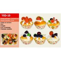 Сквиш-антистресс YXD-10 (100уп по6шт) пирожное на магните,в коробке 6 шт 19*7*13 см не менее 6