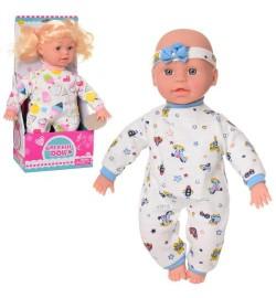 Лялька DEFA 5100 (24шт) мягконабів, 32см, 2в (1в-пупс), зв, бат (таб), в кор-ке, 15-33-8см