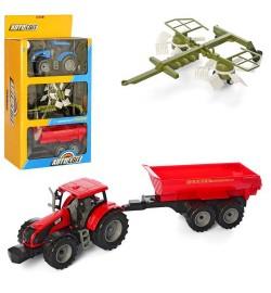 Трактор AS-2022 (24шт) АвтоСвіт, инер-й, 20см, прицеп2шт, 2цвета, в кор-ке, 26-46-11см