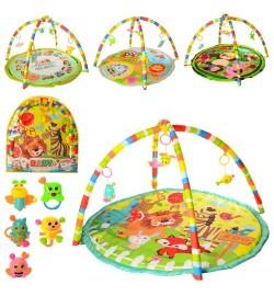 Килимок для немовляти 056-7-8-9-60-1 (18шт) 86-84-1см, дуга 2шт, подвеск 5шт, 4в, в кор-ке, 61-66-3см