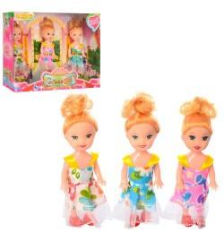 Кукла 988A (96шт) 3шт, 10см, в кор-ке, 21-15-5см