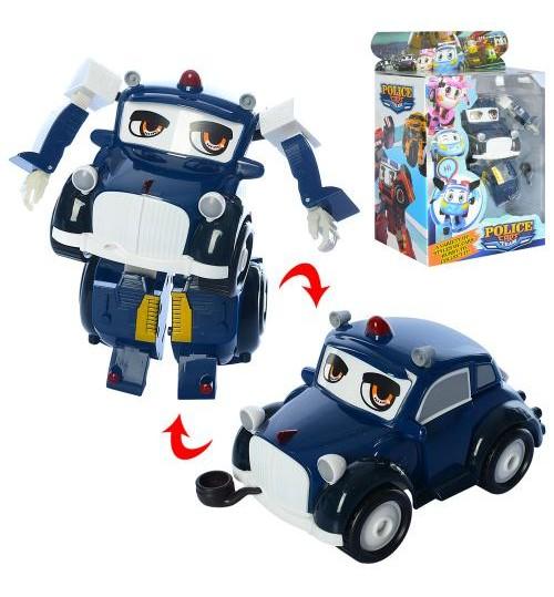 Трансформер JT3103 (24шт) полиция, робот+машинка, 14см, в кор-ке, 22-28-12,5см