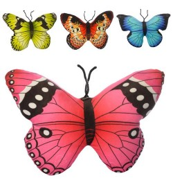 Подушка MP 1928 (36шт) бабочка, 42см, 4цвета