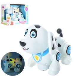 Собака 696-25 (36шт) 20см, їздить, муз, звук, світло, на бат-ке, в кор-ке, 25,5-19-13см