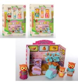 Будиночок 30105ABC (48шт) SF, меблі, фігуркі3шт, від 5,5 см, 3віда (тварини), в кор-ке, 20-28-4см