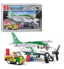 Конструктор SLUBAN M 38-B 0362 (18шт) Авиация, самолет, машинка,фигурки,251дет,в кор-ке, 32,5-24-5с