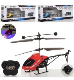 Вертоліт XY-002 (24шт) р / у, аккум, 19см, світло, гіроскоп, USBзарядное, 3цвета, в кор-ке, 43,5-17-7см