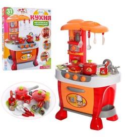 Кухня 008-801A (5шт) 51-73-30см,плита,духовка,звук,свет,посуда,на бат-ке,в кор-ке, 51,5-62,5-10,5см