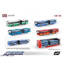 Модель автобус PLAY SMART 6576 метал.инерц.4цв.кор.20,5*5,5*5,5 /96/