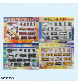 Набор моделек 16шт. 248927 транспорт метал.4в.кор.34*3*25,5 /48/
