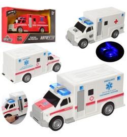 Машина AS-2161 (48шт) АвтоСвіт, інер-я, 20см, зв, св, 3в (пожежна / швидка), бат (таб), в кор, 23-15-11см