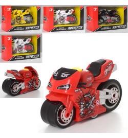 Мотоцикл AS-2244 (96шт) АвтоСвіт, металл, инер-я, 9см, 4 цвета, в кор-ке, 12,5-8-6см