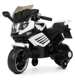 Мотоцикл M 4116-1 (1шт) 1мотор25W, 1аккум6V4AH, музыка,свет, MP3, USB, свет.кол., кожа, белый