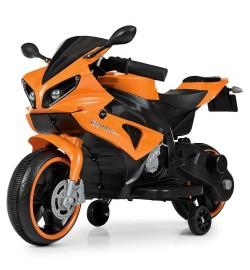 Мотоцикл M 4183-7 (1шт) 2мотора25W, 2аккум6V4AH, свет.колеса, MP3, TF, USB, оранж