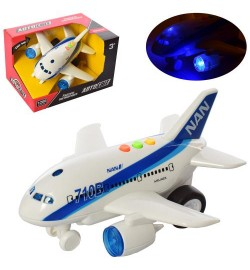 Літак AS-2156 (48шт) АвтоСвіт, інер-й, 1: 200, 20см, звук, світло, бат (таб), в кор-ке, 21-13-15см