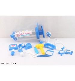 Доктор 5010-1  (48шт/2) стетоскоп, термометр, ножницы,очки...в колбе 27*13*11см