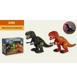 Интерактивное животное 3305 (48шт/2) Динозавр, батар звук, ходит, в коробке 22*17*10 см