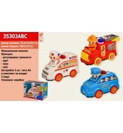Муз.машина 35303ABC (18шт / 2) батар., 3 види, в кор. 26,5 * 14 * 19,5 см