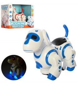 Собака 8203 (18шт) 19,5см,танцует,муз,звук,свет,подв.голов.и хвост,2 цвета,на бат,в кор, 25-20-15см